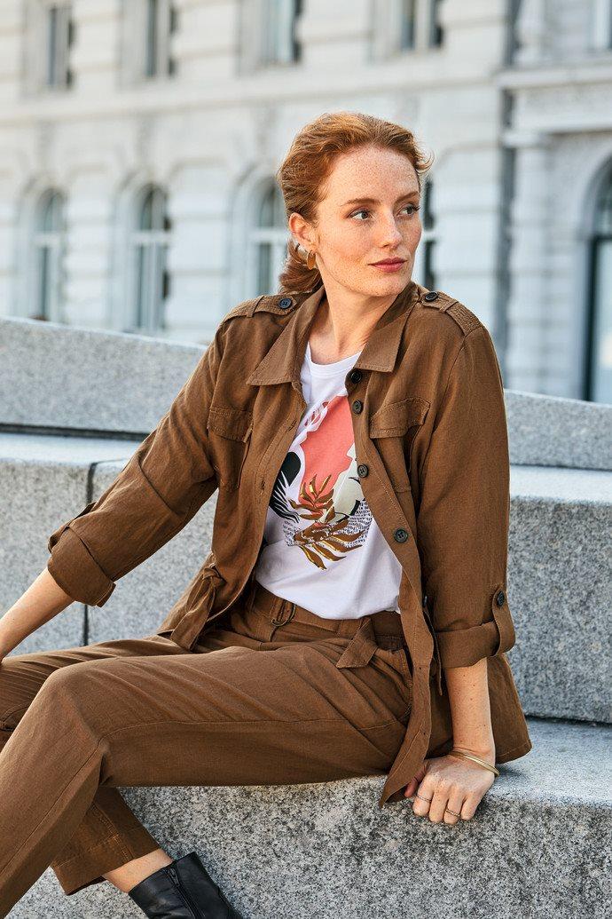 Safari-look BTX in cognackleur
